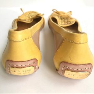 Kate Spade New York yellow leather flats loafers 7